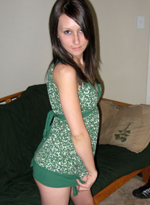 Cute Teen Strips Out Of Her Little Summer Dress Into Her Bra And Panties - Picture 1